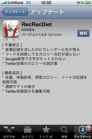 iPhone 本日(14日)のバージョンアップ アプリ