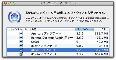 【Mac】Appleより「iWork アップデート 9.2」がリリース