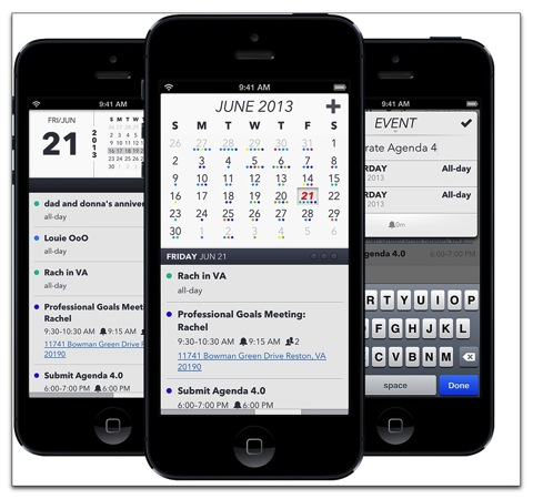 【iPhone,iPad】iOS 7を意識して再設計された人気カレンダーアプリ「Agenda Calendar 4」がリリース