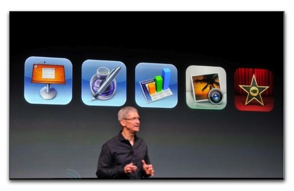 【iPhone 5c/5s】AppleからのプレゼントiWorkとiPhoto,iMovieは同一Apple IDであればダウンロードが可能