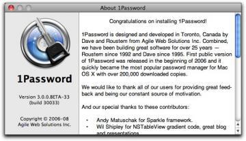 Mac Web サイトのアカウント情報管理アプリ「 1password 3 」