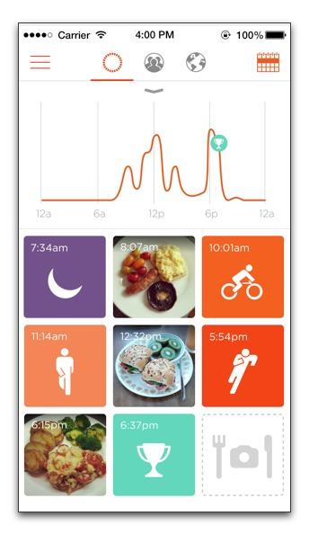 【iPhone】Misfit 活動量計「Shine1.9.0」、睡眠の開始と終了の編集と食事の写真を残せる