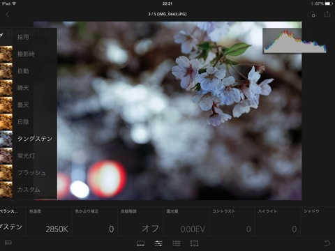 【iPad】「Lightroom Mobile」でiPhoneで撮影した写真を修正する