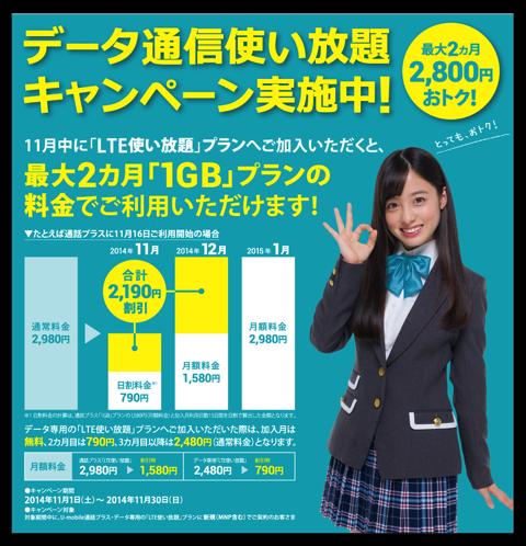 【iPhone】今なら「LTE使い放題」がSIM込みで2ヶ月1,948円なので申し込んでみた