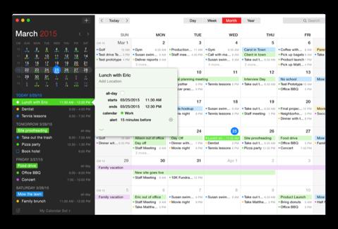 【Mac】カレンダー&リマインダー「Fantastical 2 for Mac」の20%オフは1月10日まで