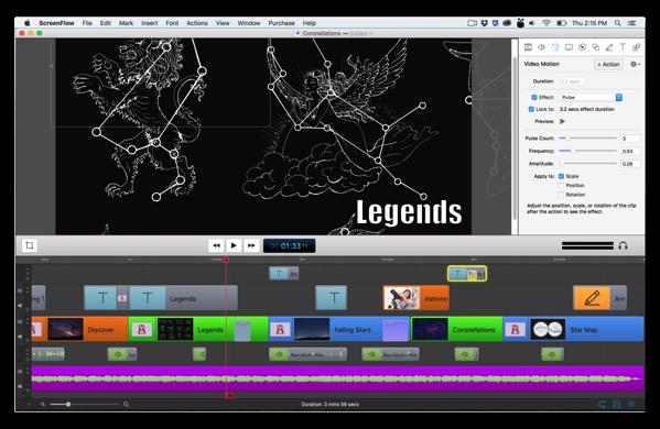 【Mac】スクリーンキャスト&ビデオ編集アプリ「ScreenFlow」がVer.6へメジャーバージョンアップ