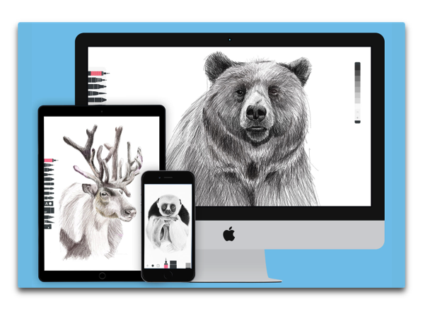 【Mac】iOSで人気ペイントアプリ「Tayasui Sketches Pro」のMac版「Sketches Pro」がリリースされています