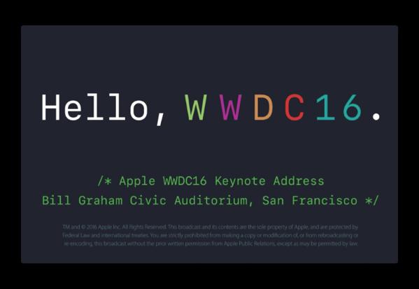 Apple、プレスリリースにWWDC 2016での「macOS Sierra」「Apple TV」「iOS 10」「watchOS 3」を掲載
