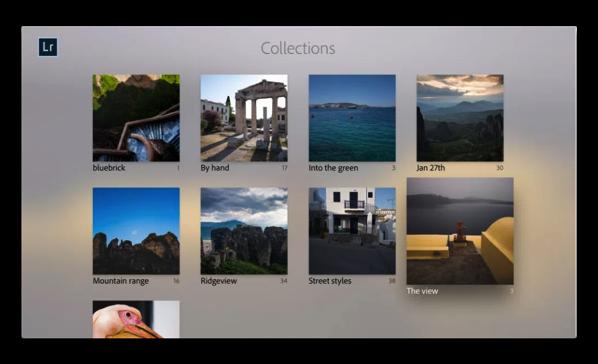 Adobe、Apple TV版のPhotoshop Lightroomをリリース、利用してみました