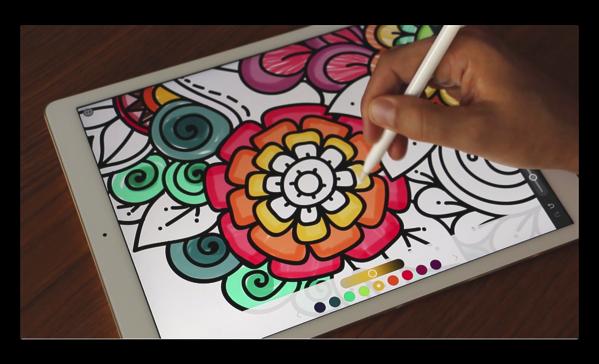 【iPad Pro】最近一大ブームの「大人の塗り絵」を「iPad Pro」 +「 Apple Pencil」で