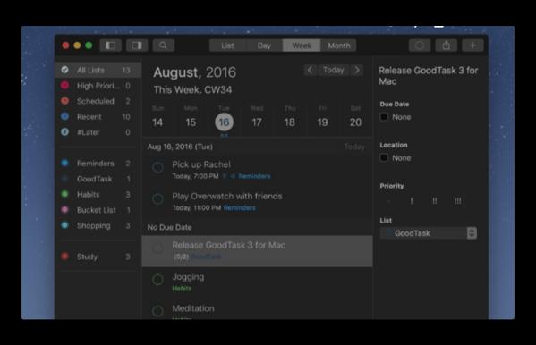 【Mac】タスク/プロジェクトマネージャ「GoodTask 3」が発売開始スペシャルプライスで50%オフ
