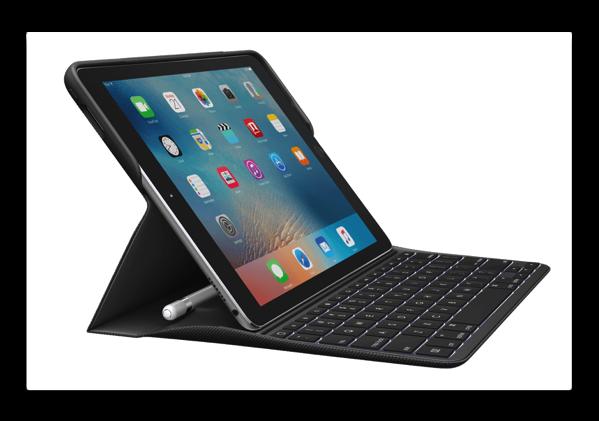 ロジクール iK1082 Smart Connector および Apple Pencilホルダー搭載バックライト付きキーボードケースfor iPad Pro(9.7インチ)が発売