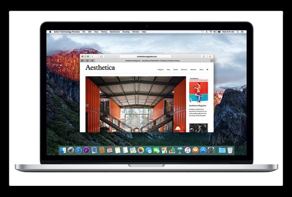 【Mac】Apple,「Safari Technology Preview Release 11」を開発者にリリース