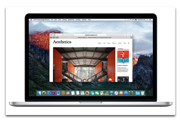 【Mac】Apple,「Safari Technology Preview Release 10」を開発者にリリース