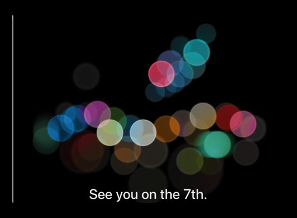 Apple公式witterアカウントのヘッダーを9月7日のイベントの画像に変更