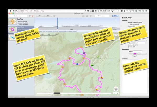 【Mac】ランニングやサイクリングのためのルートプランナー「TrailRunner mini」