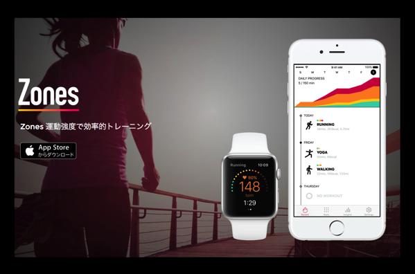 Apple Watchで心拍ゾーンを見える化、ほかのアプリの記録も標示、Apple Wachユーザには必携!「Zones」