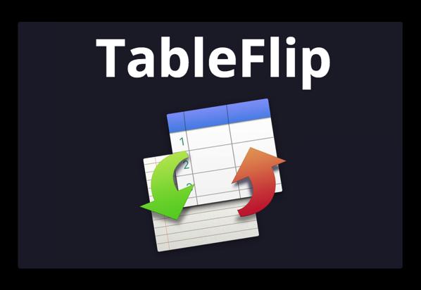 【Mac】マークダウンテーブルエディタ「TableFlip」