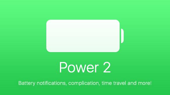 【Apple Watch】一目でiPhoneのバッテリ状況がわかる「Power 2」