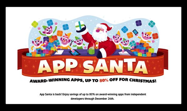 【Sale情報】今年も「App Santa」がやってきた、iOS&Mac Appsで計21本が最大 80%オフ