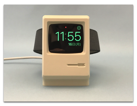 「Macintosh 128K」を模したApple Watch充電スタンド「Elago W3 Stand Apple Watch」が届いた