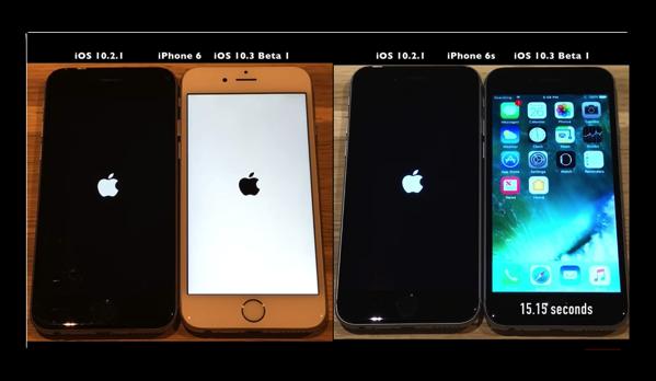 ビデオで比較、「iOS 10.3」の新機能 APFS使用は起動を高速化し、スペースを節約