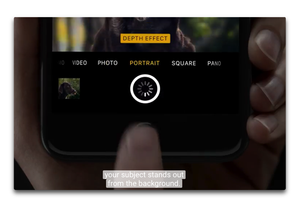 Apple、iPhone 7 Plusのポートレートモード機能を促進するためのビデオ2本を公開