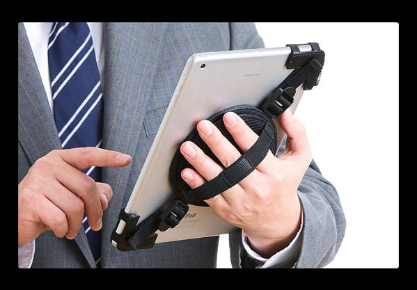 サンワサプライ、iPadなどタブレットの回転式ホルダーバンドを発売