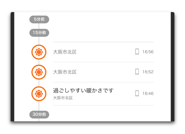 【iOS】「Yahoo!天気」がバージョンアップで「みんなで実況!今の天気」にタイムライン機能が追加、その使用方法