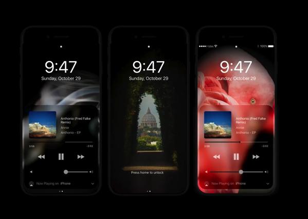 デザイナーが想像するOLEDのiPhone 8とiOS 11のダークモードのモックアップムービー