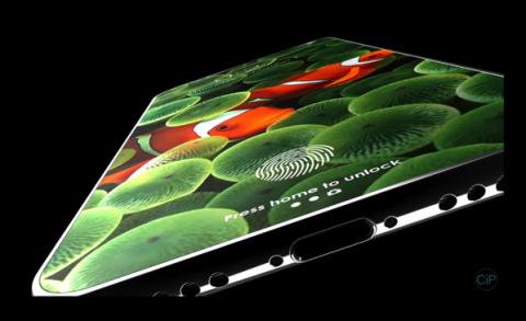 ベゼルレスディスプレイ、画面内のタッチID&フロントカメラなどの新しいiPhone 8のコンセプトビデオ
