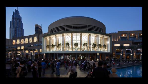Apple、ドバイに「Dubai Mall」を4月27日にオープンすると発表