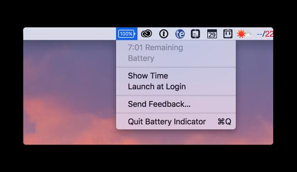【Mac】残りのバッテリランタイムを表示する「Battery Indicator」が期間限定で無料