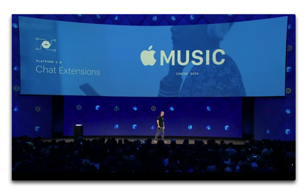 Apple MusicがFacebook Messengerに登場