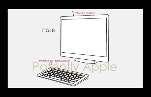 Appleの特許出願で、デスクトップMac用のTouch Bar付きのキーボードが明らかに