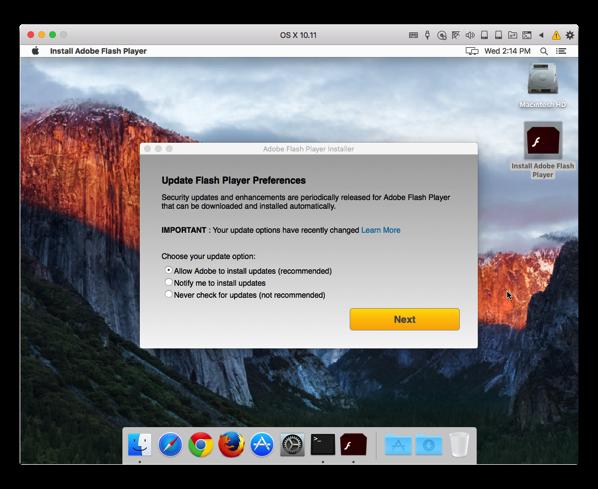 Macに移植されたWindowsの「Snake」マルウェアがAdobe Flash Playerインストーラーに変身