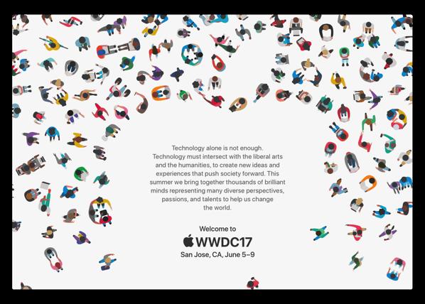 Apple、6月5日のWWDC2017基調講演のためのプレスの招待状を送る