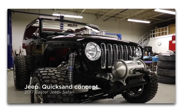 Jeep、「Jeep® Quicksand, a 2017 Easter Jeep Safari concept」のtime-lapse videoを公開