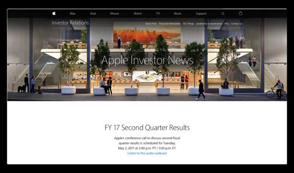 5月2日(現地時間)、Appleの2017年第2四半期決算発表で見るべき重要な項目