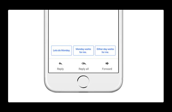 iOSとAndroid用「Gmail」にSmart Reply機能が追加