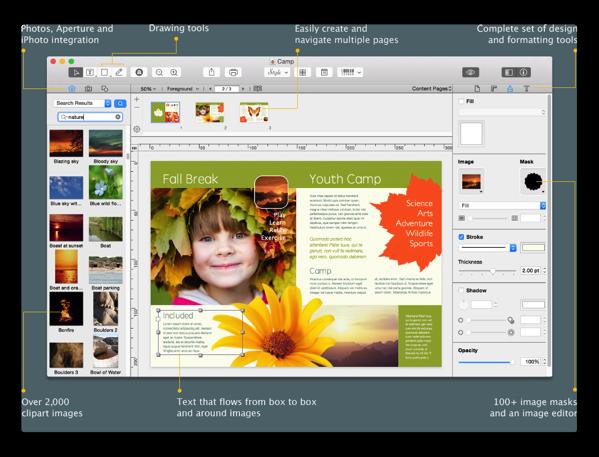 【Mac】ページレイアウトアプリケーション「Swift Publisher 4」