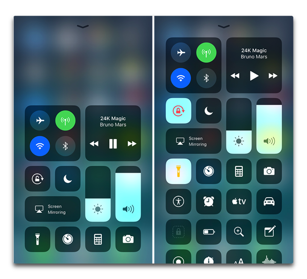 【iOS 11】3D Touchでコントロールセンターがカスタマイズ可能に