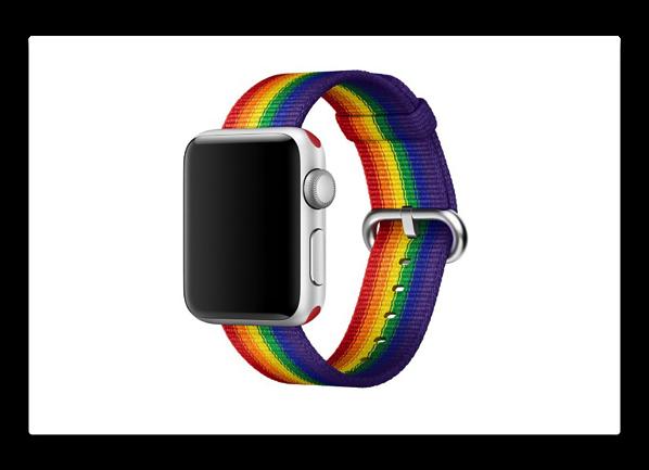 Apple、「プライドエディションウーブンナイロン バンド」でLGBTQアドボカシー支援
