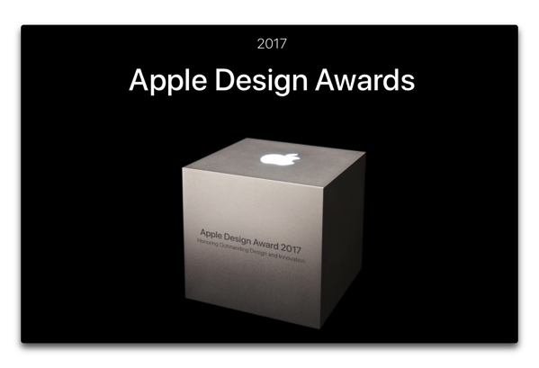 Apple、「Apple Design Awards 2017」の受賞者を発表