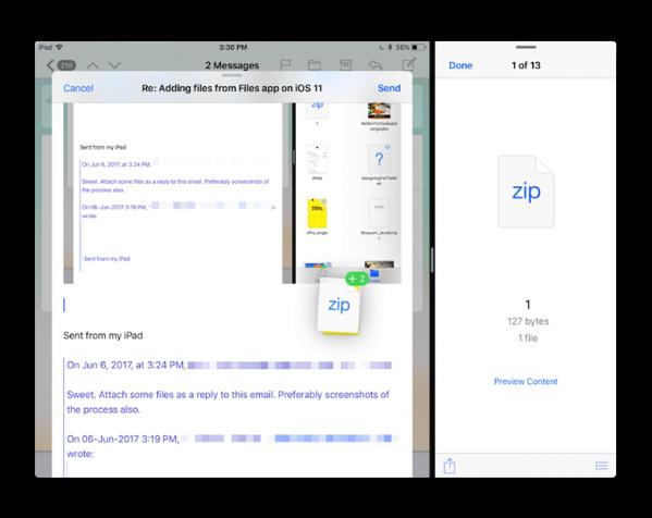 iOS 11での新機能「ドラッグ&ドロップ」は、iPadだけでなくiPhoneでも可能