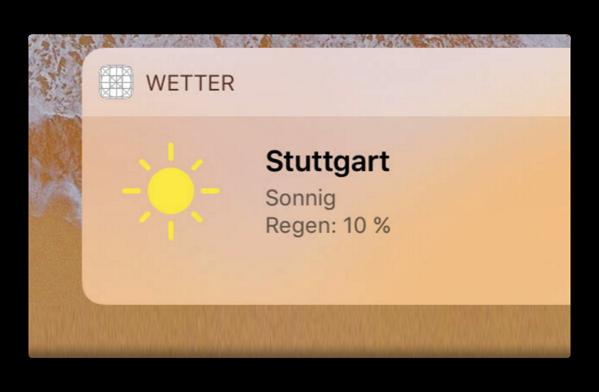 「iOS 11」では、iPadでも天気ウィジェットを提供