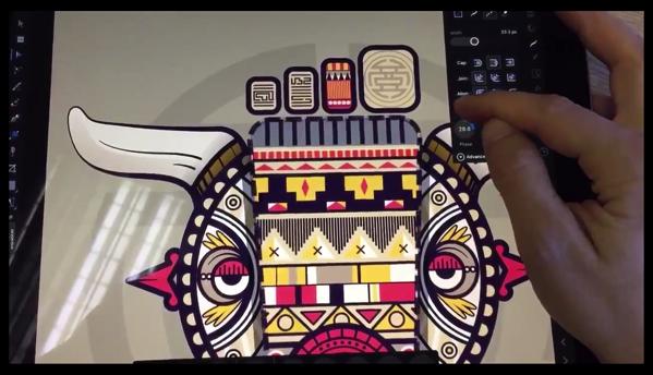 Macで人気の「Affinity Designer」がiPadで動作するビデオ