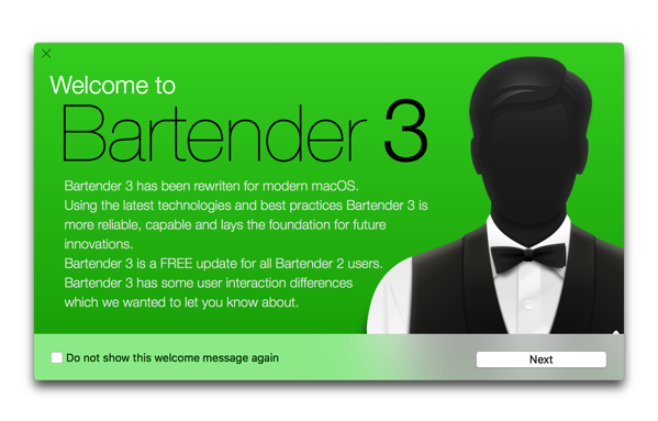 【Mac】「macOSHighSierra」に対応したメニューバー拡張アプリ「Bartender 3 Public Beta」がリリース