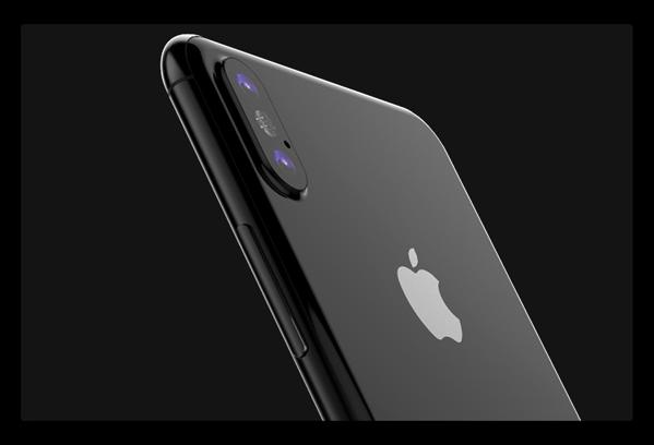 iPhone 8のフロントスクリーンから、ホームボタンが消えてしまっているのが確認される