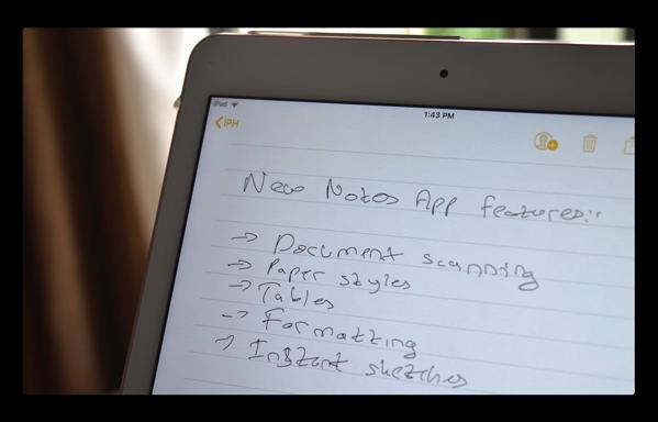 【iOS 11】iPad、iPhoneの「メモapp」で背景の紙のスタイルを変更する方法